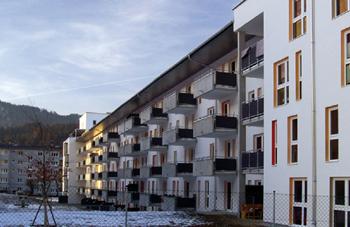 Жилой комплекс в Австрии. Архитектор Герхард Хаузер