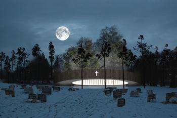 Ночной вид, церковь Валер. Архитектурный проект, Хармен ван де Валь