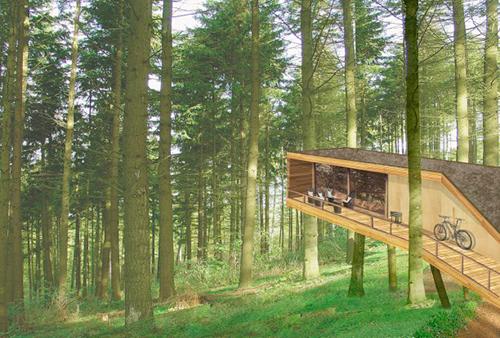Проект дома отдыха, архитектор Кристиан Мюллер.
