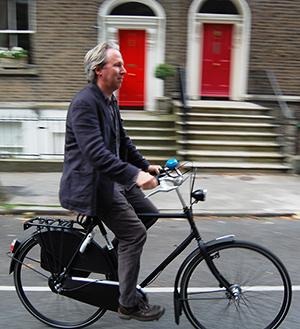 Шон Харрингтон на своем любимом велосипеде
