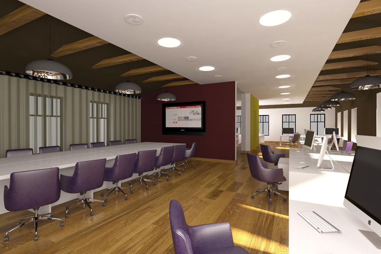 Дизайн офисного интерьера, визуализация. Проект DeViz
