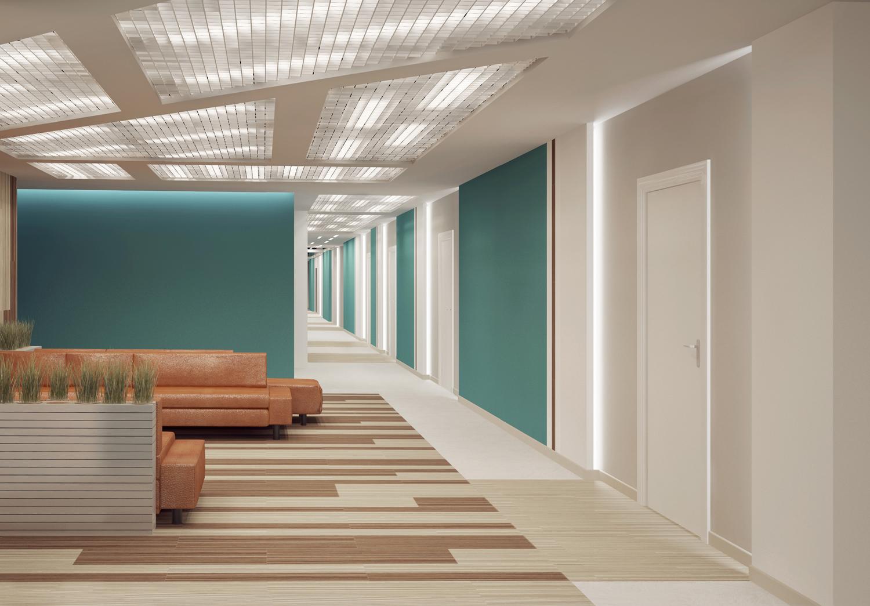 Свет и цвет в офисном интерьере. Проект студии DeViz