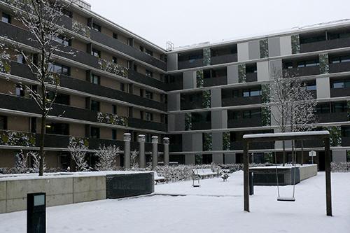 Пассивный дом, многоэтажный жилой комплекс Lodenareal, Иннсбрук, Австрия