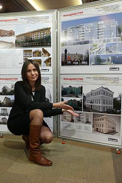 Ольга Бабич, автор проекта бизнес-центра, победителя конкурса Фасадометрия